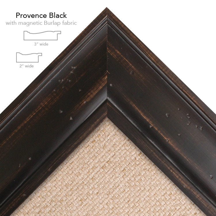 magnetic bulletin board provence black + buralp