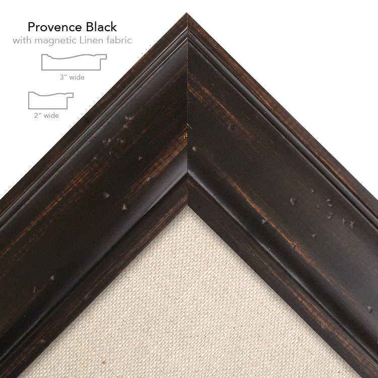 magnetic bulletin board provence black + linen