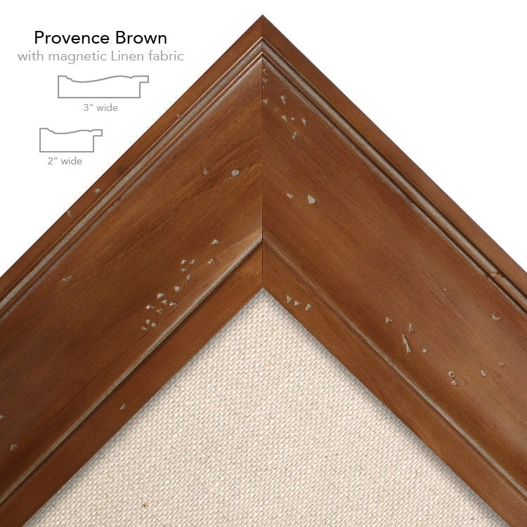 magnetic bulletin board provence brown + linen