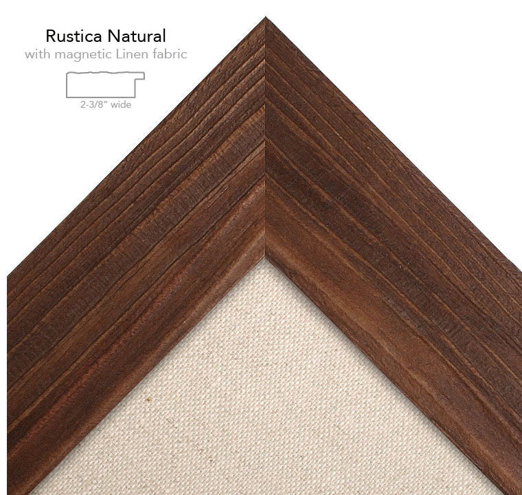 magnetic bulletin board rustica natural + linen