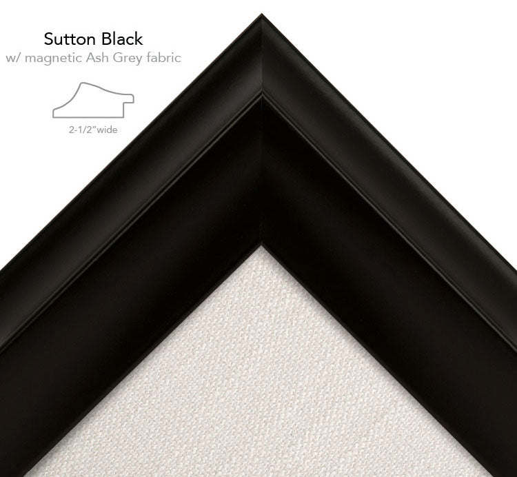 magnetic bulletin board sutton black + ash