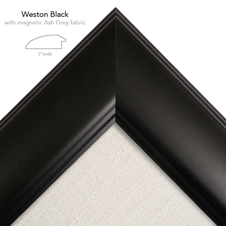 magnetic bulletin board weston black + ash