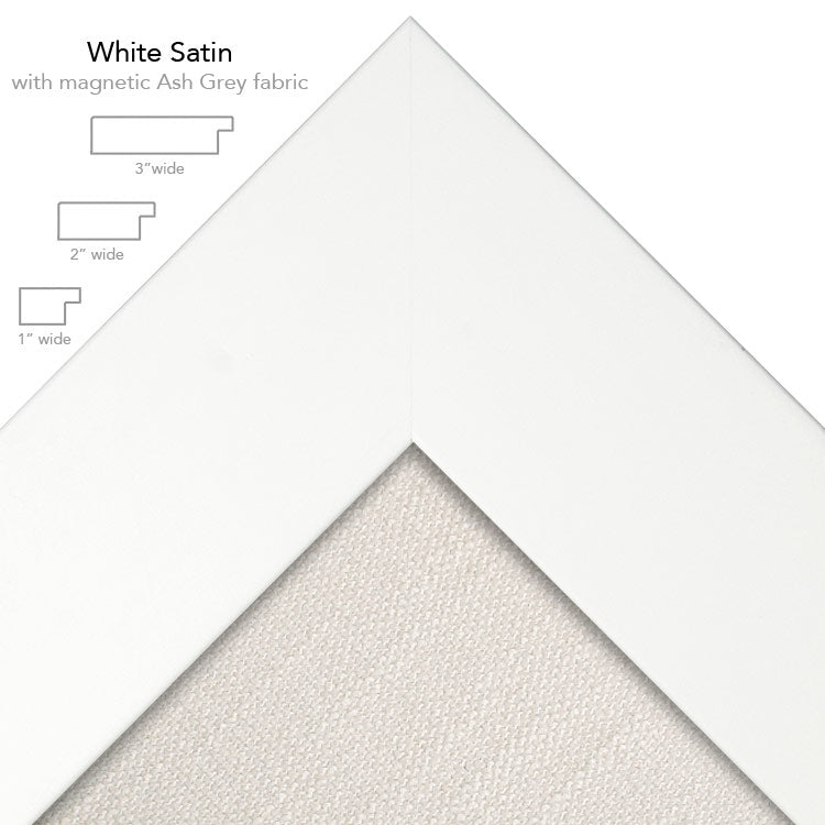 magnetic bulletin board white + ash