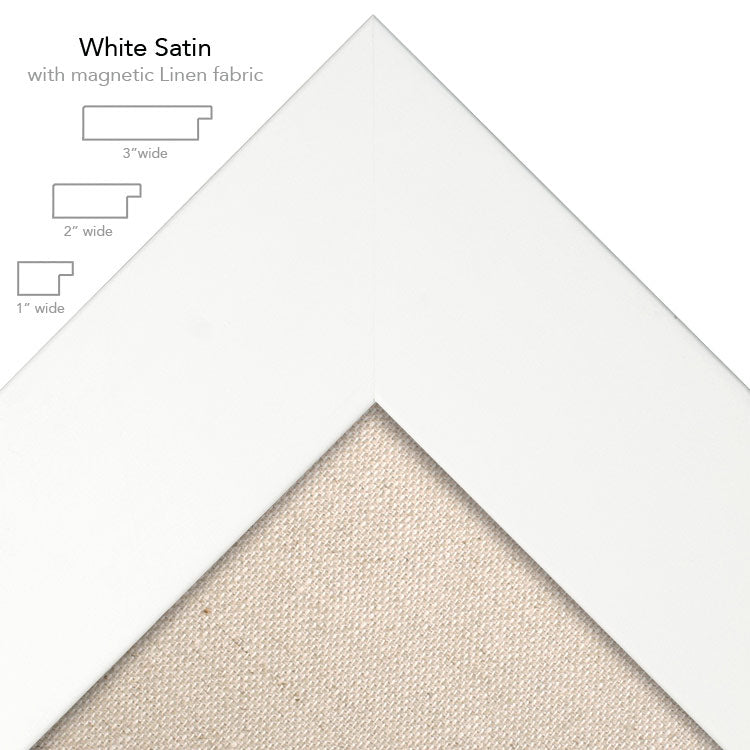 magnetic bulletin board white + linen