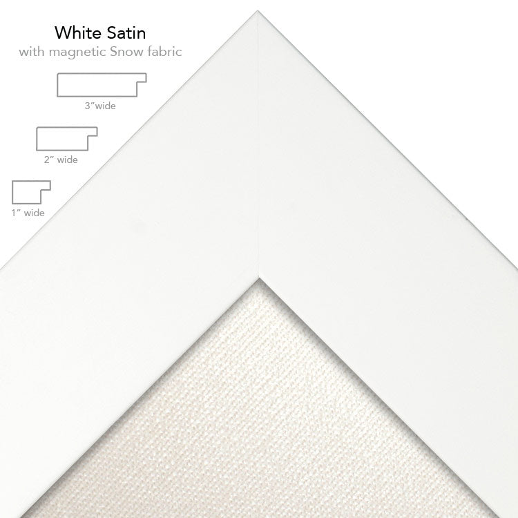 magnetic bulletin board white + snow