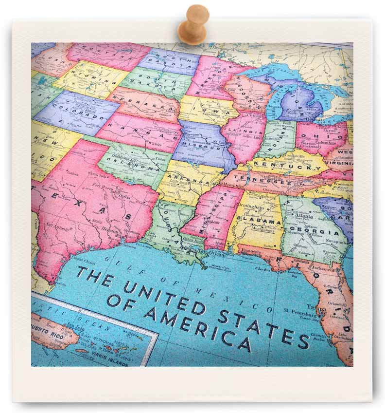 Cork board maps us world maps printed on cork corkboard click here to view us map frame choices click here to view us map frame choices gumiabroncs Image collections
