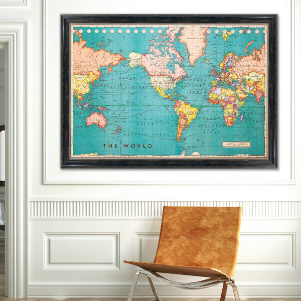 Cork board maps us world maps printed on cork corkboard cork board world map gumiabroncs