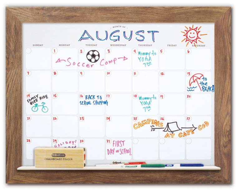 Dry Erase Wall Calendar Decorative Whiteboard Calendar Corkboard Com