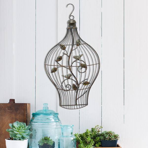 Bird cage wall d cor stratton home decor for Bird home decor