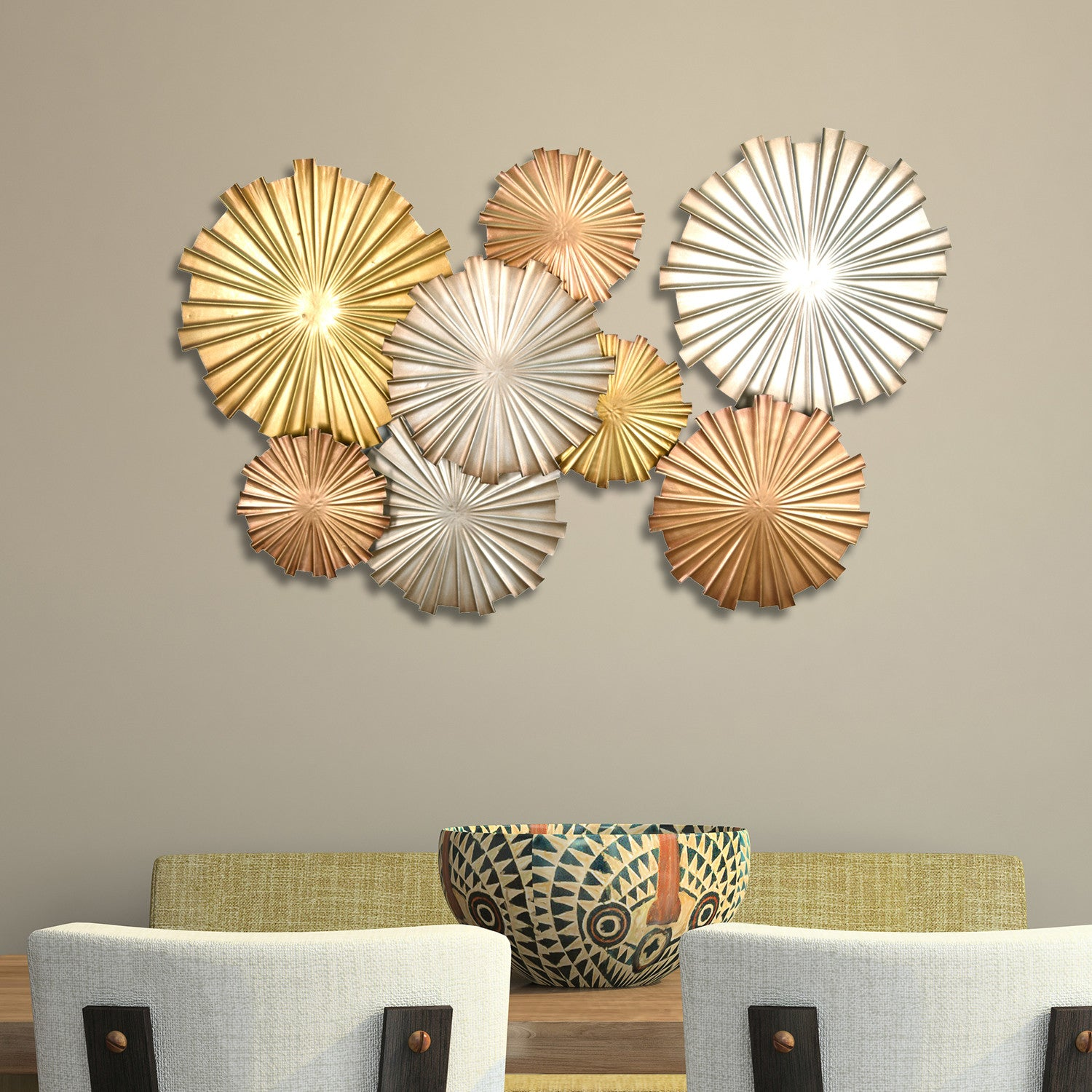 Mixed Statement Circles Wall Decor Stratton Home Decor