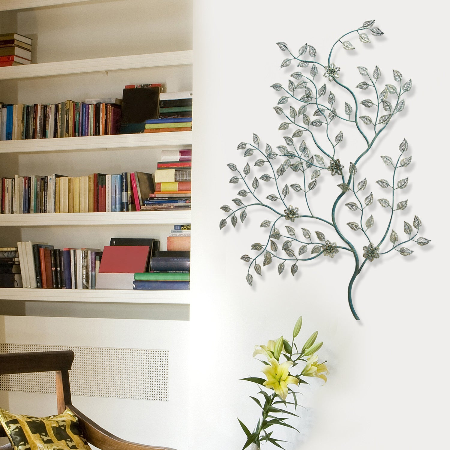 Laser cut leaves on tree branch wall dcor stratton home decor laser cut leaves on tree branch wall dcor amipublicfo Choice Image