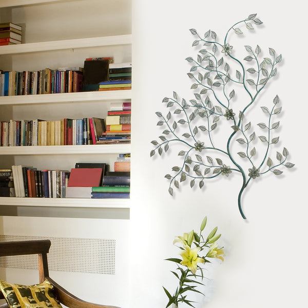 Laser cut leaves on tree branch wall d cor stratton home for New home decor products
