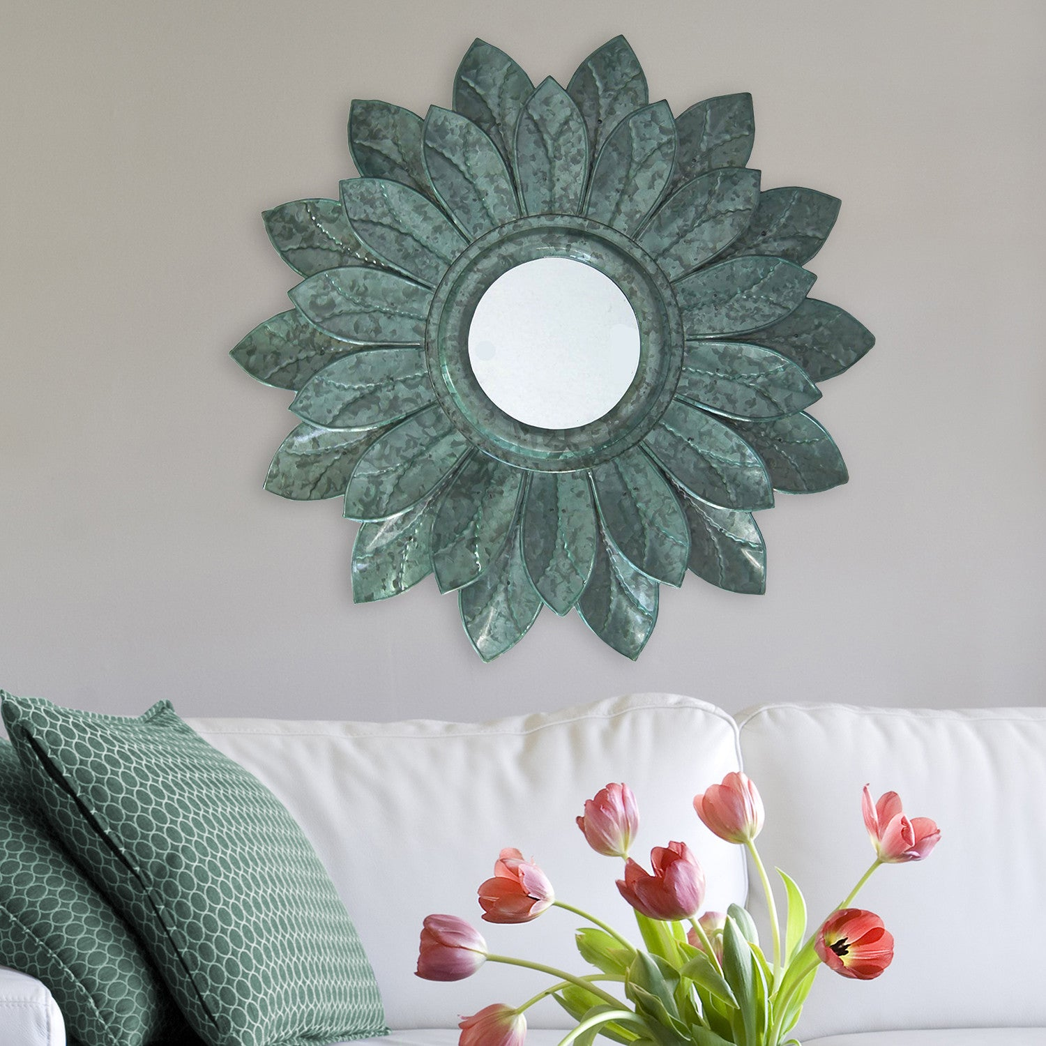 Metallic Sunflower Mirror Wall Décor – Stratton Home Decor