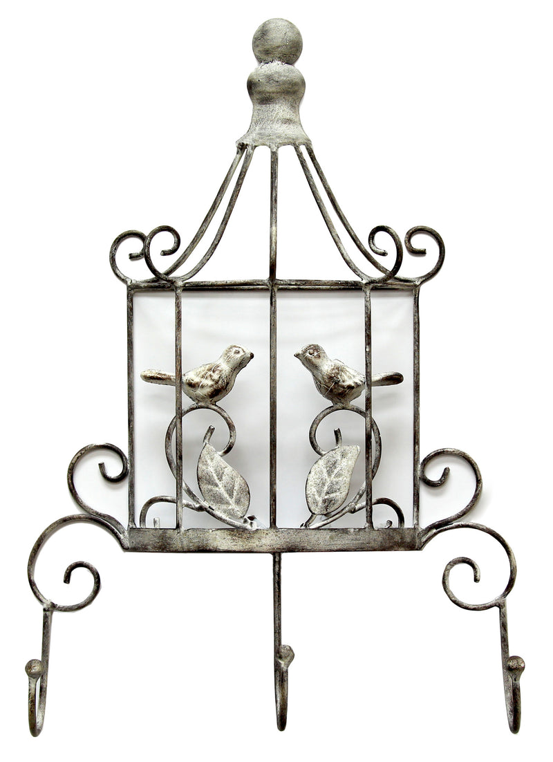 Silver Birdcage Wall Hook