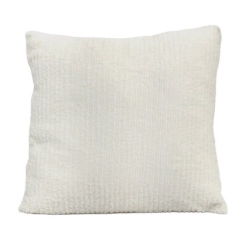 Stratton Home Decor White Faux Fur Pillow