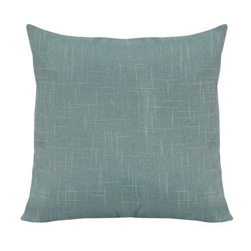 Stratton Home Decor Teal Blue Tweed Pillow