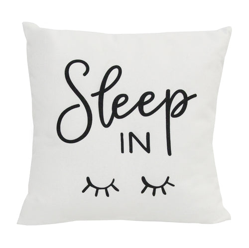 "Stratton Home Decor ""Sleep In"" Pillow"