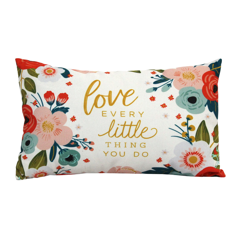 "Stratton Home Decor ""Love Every"" Lumbar Pillow"