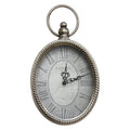 Antique Silver Oval Wall Clock