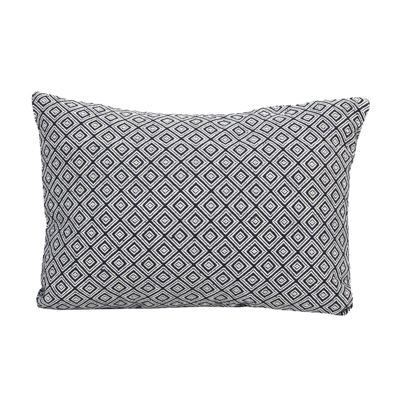 Black Jacquard Lumbar Pillow