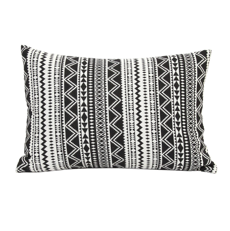 Stratton Home Decor Black and White Tribal Throw Pillow