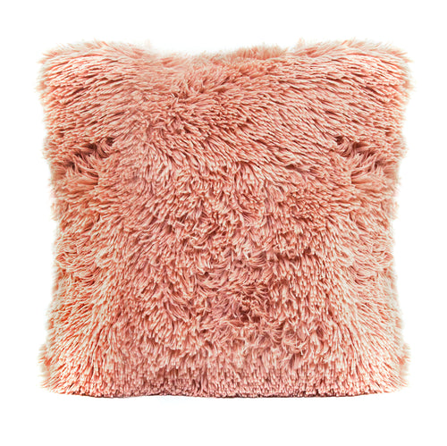 Stratton Home Decor Faux Fur Pink Throw Pillow