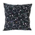 Stratton Home Decor Navy Floral Corduroy Pillow