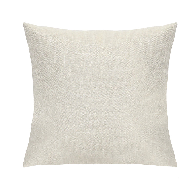 Stratton Home Decor White Tweed Pillow