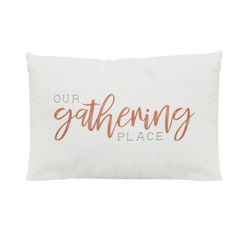 "Stratton Home Decor ""Our Gathering Place"" Lumbar Pillow"