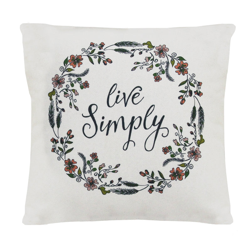 "Stratton Home Decor ""Live Simply"" Pillow"