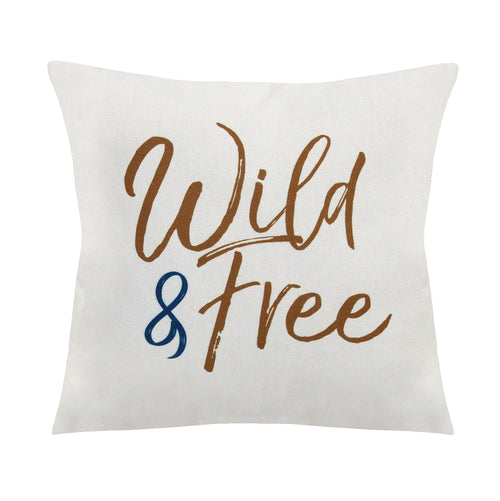 "Stratton Home Decor ""Wild & Free"" Square Pillow"