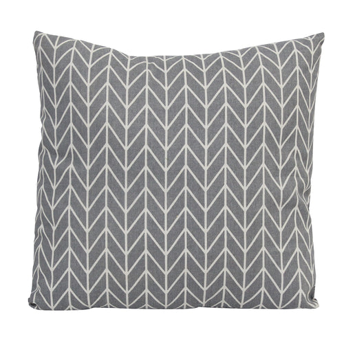Stratton Home Decor Grey Geo Pillow
