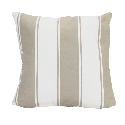 Stratton Home Decor Beige Stripe Pillow