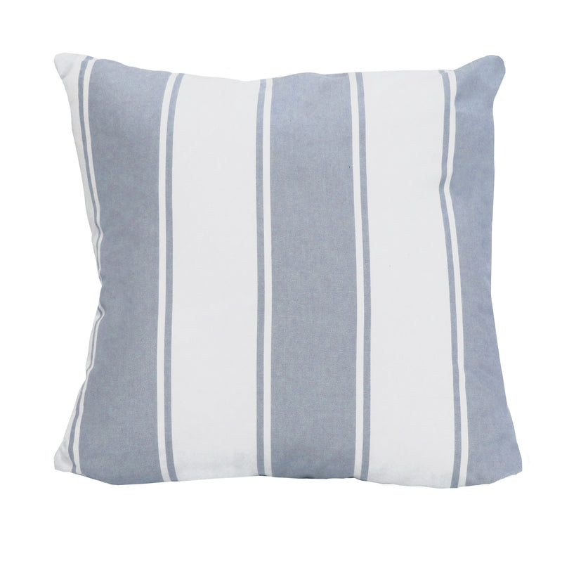 Stratton Home Decor Blue Stripe Pillow