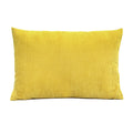 Stratton Home Decor Yellow Cordoroy Lumbar Pillow