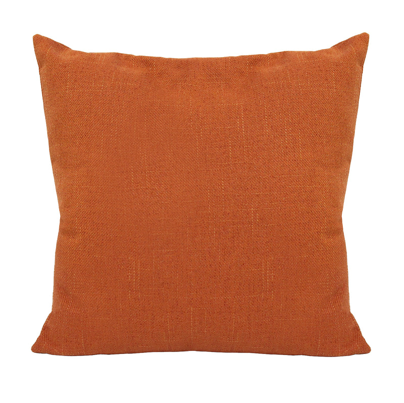 Stratton Home Decor Orange Tweed Pillow