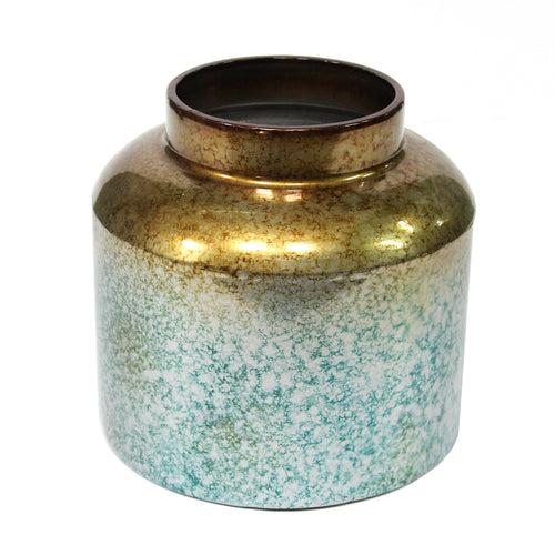 Stratton Home Decor Round Metal Ombre Vase