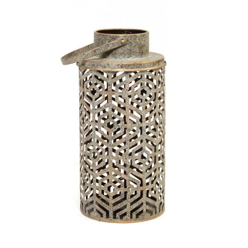 Stratton Home Decor Laser Cut Distressed Lantern