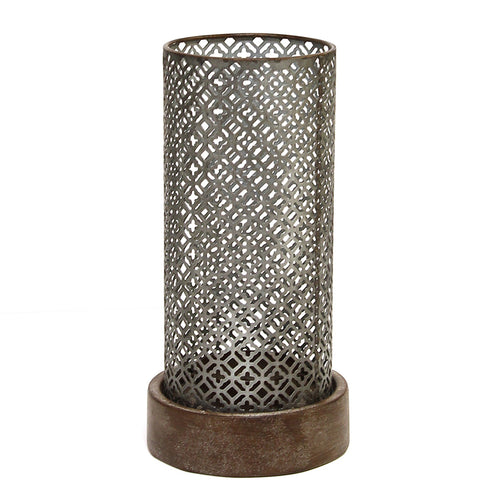 Stratton Home Decor Moroccan Hurricane Candle holder