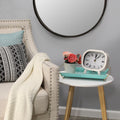 Stratton Home Decor Susie Retro White Metal Table Clock