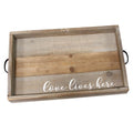 "Stratton Home Decor ""Love Lives Here"" Wood Tray"