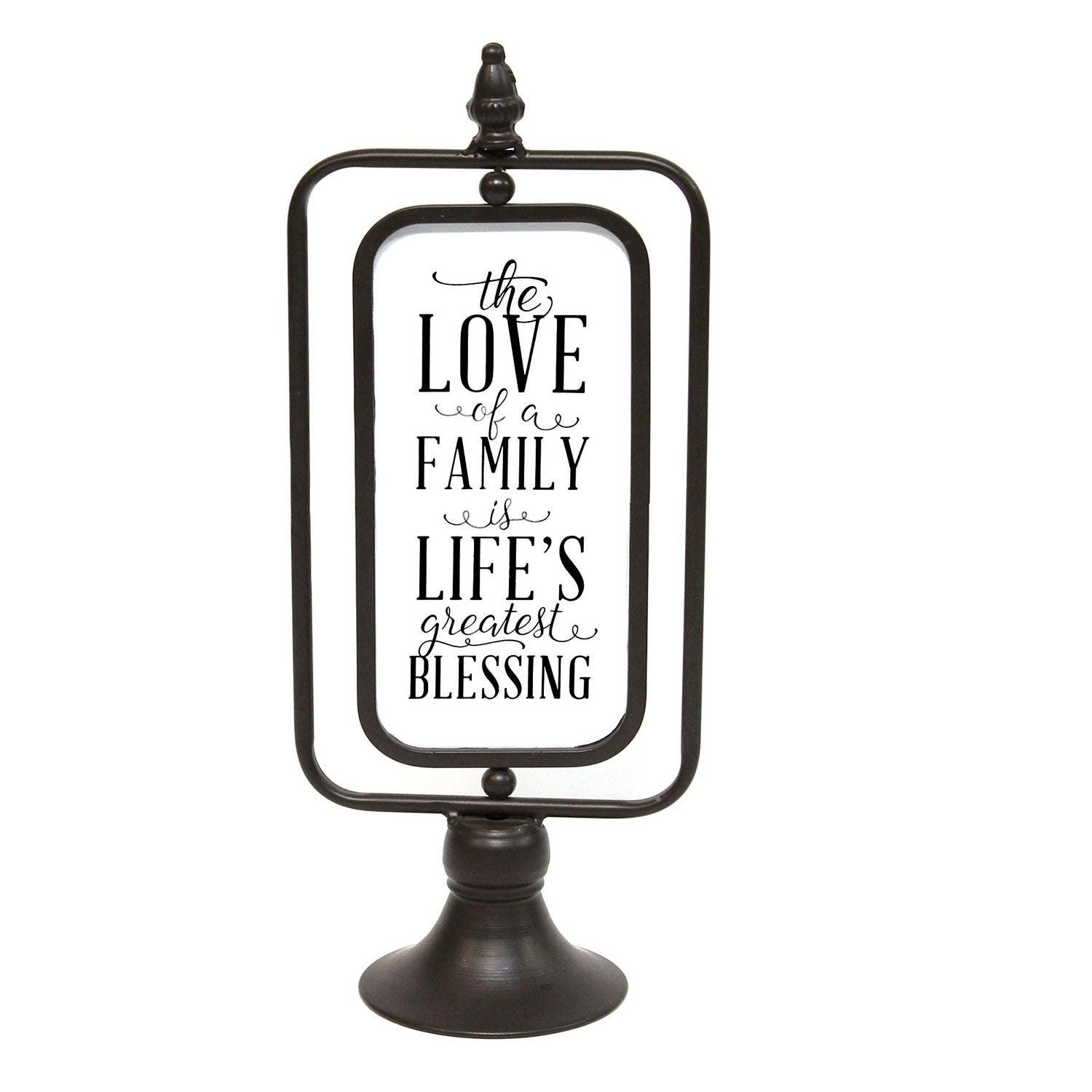 Stratton Home Decor The Love Of A Family Metal Table Top