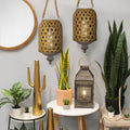 Stratton Home Decor Hanging Bamboo Woven Lantern