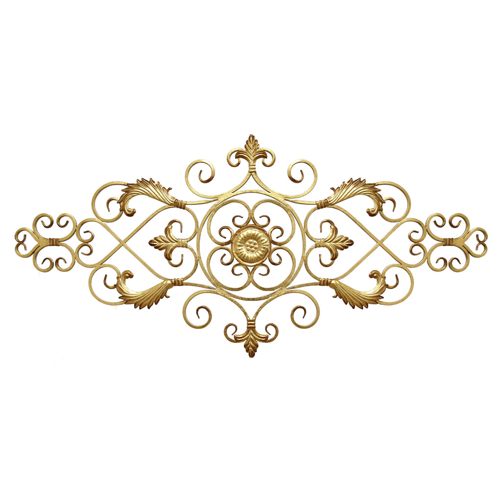 Stratton Home Decor Antique Gold Scroll
