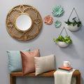 Stratton Home Decor Set of 2 White Round Metal Wall Planters