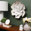 Stratton Home Decor White Metal Flower