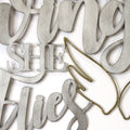 "Stratton Home Decor ""With Brave Wings She Flies"" Metal Word Art"