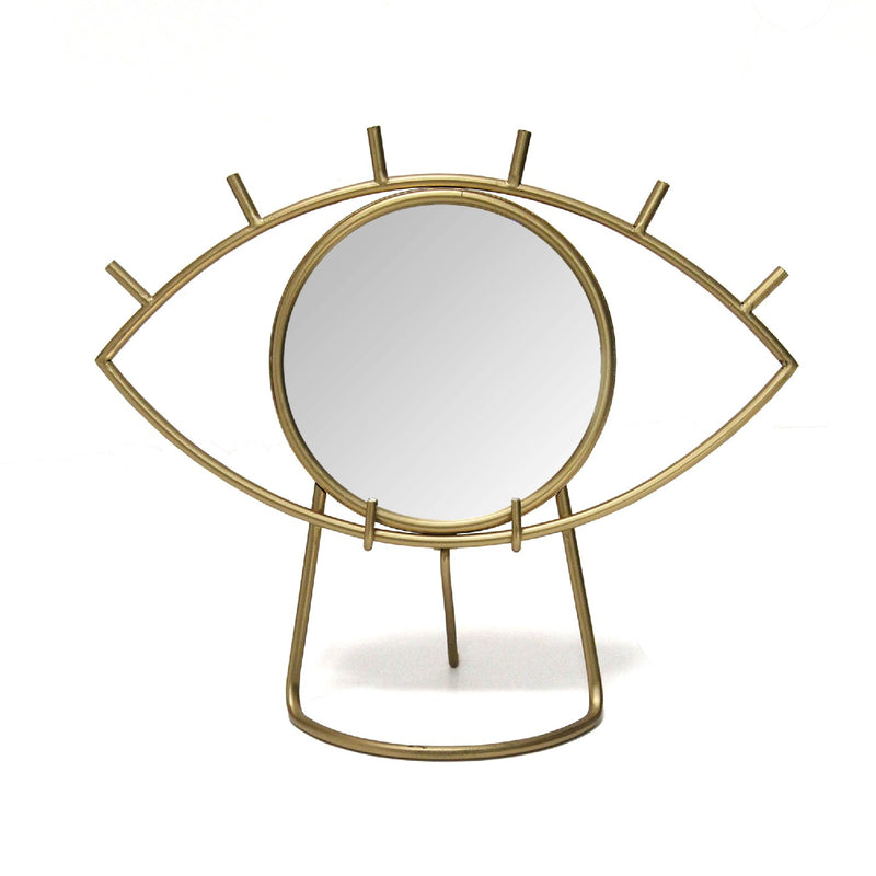 Stratton Home Decor Gold Eye Tabletop Mirror