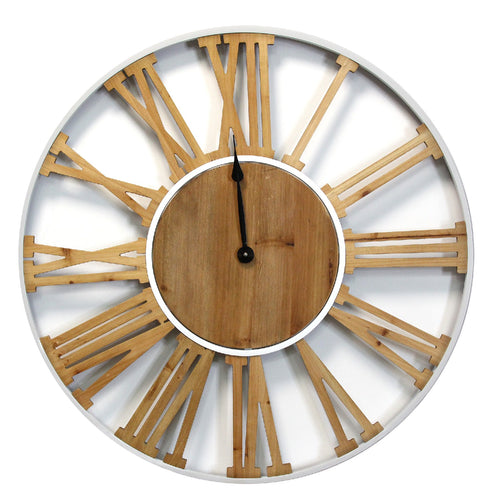 Stratton Home Decor Franklin Wood and Metal Clock