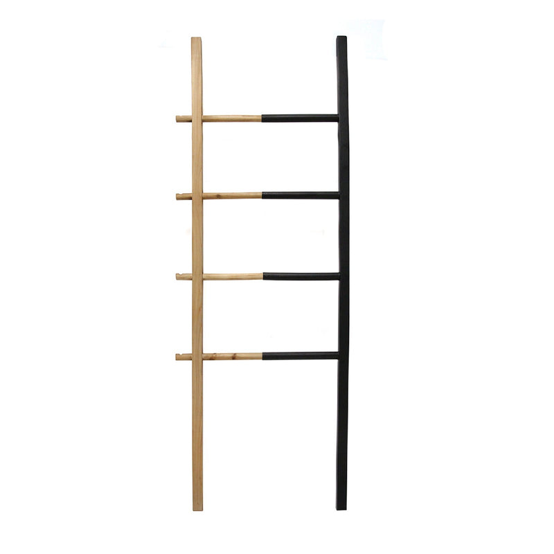 Stratton Home Decor Wood and Metal Decorative Ladder